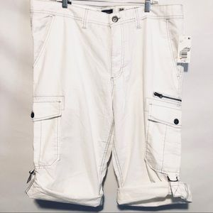 INC Men's long cargo shorts sz 38 NWT